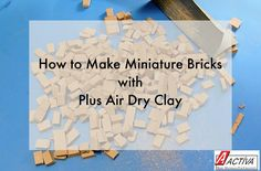 Learn how to make miniature bricks for all of your miniatures hobbies and modeling needs!  This video tutorial will show you the basics of crafting your own bricks with ACTIVA's Plus Air Dry Clay.