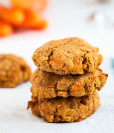 Healthy Cinnamon Carrot Cookies - Baking-Ginger