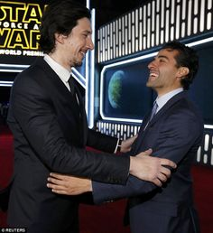 Adam Driver and Oscar Isaac, World Premiere of 'Star Wars: The Force Awakens', December 14, 2015