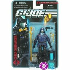 G.I. Joe Pursuit of Cobra 3 3/4 Inch Action Figure Cobra Commander by Hasbro Toys. $6.99. Figure comes with weapon accessories.. This new line of G.I. Joe Pursuit of Cobra figures are sure to be a hit! Featuring all your favorite characters available in all new gear, featuring new weapons & accessories. Dont miss out, order yours today!