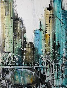 New York Skyline Abstract