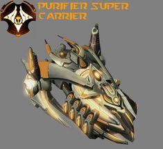 StarCraft 1 - Protoss Super Carrier Gantrithor by HammerTheTank on DeviantArt Starcraft 2, Spaceship Design, Stars Craft, Anthro Furry, Warhammer 40k, Overwatch, Deviantart, Sci Fi, Aliens