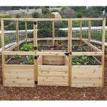 <strong>Square Raised Garden with Deer Fence Kit</strong> by Outdoor Living Today