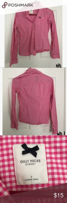 Gilly Hicks pink plaid button down shirt Pink plaid button down shirt from Gilly Hicks; size s Gilly Hicks Tops Button Down Shirts