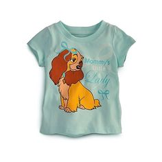Lady and the Tramp Tee for Baby (43 BRL) ❤ liked on Polyvore featuring baby, girls and shirts