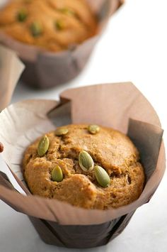 I have a thing for tea right now. And pumpkin seeds. You'll see why in a minute. But just know these Chai Tea Muffins with Pumpkin Seeds are just a big par
