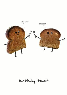 Birthday Toast | Thortful Food and Drink Cards | Creator: Soula Zavacopoulos