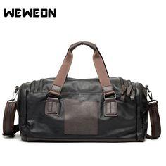 3f5e7a6b38c8 Men s PU Leather Sports Bag Gym Bag Fitness Sport Bags Duffel Tote Travel  Shoulder Handbag. Yesterday s price  US  71.56 (64.00 EUR).