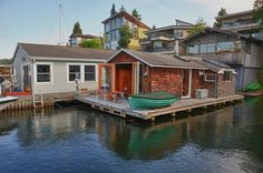 small floating houses   small floating home in Seattle, Washington.