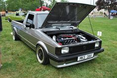 vw rabbit truck | Silver VW Rabbit Truck (caddy) |