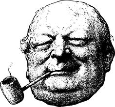 Clipart - old man with a corncob pipe