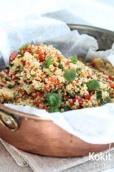 Tabbouleh-hummus | Kokit ja Potit -ruokablogi  #middleeast #recipe #tabbouleh #hummus #salad #salaatti #recipe #resepti
