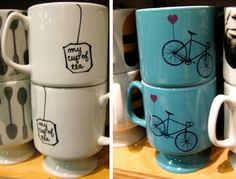 DIY the mug on the left for v-day for Tate since he loves tea.  Original sold at Urban Outfitters, but will use porcelin paint marker and bake it on myself.