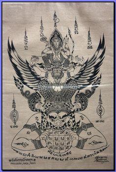 Thai traditional art Pra Narai  And Garuda