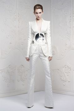 Alexander McQueen Resort 2013 - HarpersBAZAAR.com - Space Age Inspiration From David Bowie Glam Rock Age