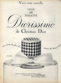 Christian Dior, Perfumes — Images and vintage original prints Perfumes Dior, Perfumes Vintage, Perfume Ad, Perfume Bottles, Couture Vintage, Vintage Dior, Vintage Beauty, Vintage Labels, Vintage Ads