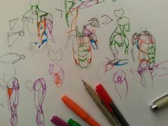 How to draw human anatomy for artists as a part of learning realistic figure drawing and how to draw and sketch people | This anatomical drawing or figure dr...