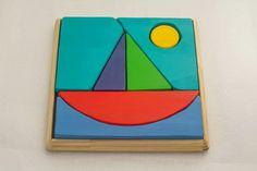Puzzle Barco     Pedagogia Waldorf Juguetes de Madera