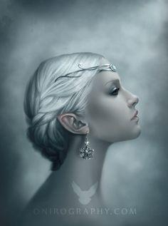Snow Queen portrait by RozennIlliano.deviantart.com on @deviantART