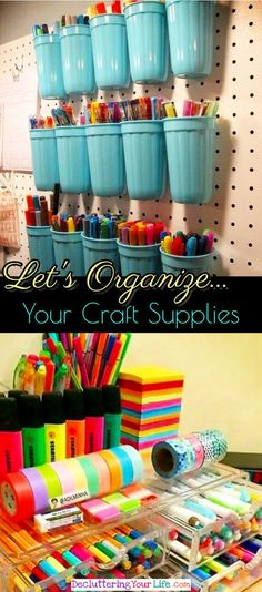 Craft room organization - Easy DIY ideas to organizing your craft supplies and craft room on a budget
