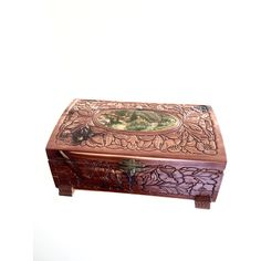 Antique Carved Solid Wood Log Box Edwardian (1901-1910) Antique Furniture