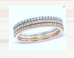 1.40ct Round Diamond Wedding Ring 18kt White Gold JEWELFORME BLUE Stack rings