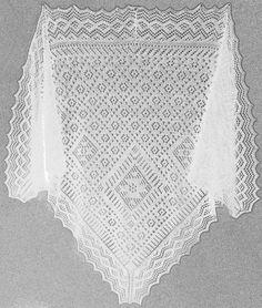 "Russian Triangular Shawl ""Polushalok"" via Craftsy Knitted Shawls, Crochet Shawl, Lace Shawls, Knit Crochet, Knitting Designs, Knitting Projects, Wrap Pattern, Lace Design, Lace Knitting"