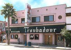 1970 Troubadour club Los Angeles | Since opening in 1957, the legendary Troubadour club in West Hollywood has helped launch some of contemporary music's most talented performers. Greats such as Elton John, James Taylor and Tom Waits performed there early in their careers, and it continues to be a destination for cutting-edge acts from around the world.
