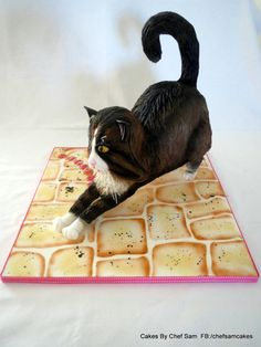 Life-size cat cake... - Cake by chefsam