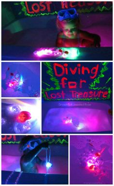 Glowing bath & other fun kid stuff