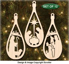Nativity Ornament Patterns - Downloadable
