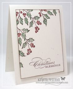 nice and simple -Watercolor Winter Christmas by - Cards and Paper Crafts at Splitcoaststampers Cas Christmas Cards, Watercolor Christmas Cards, Watercolor Cards, Holiday Cards, Simple Watercolor, Watercolor Ideas, Winter Cards, Greeting Cards Handmade, Homemade Cards