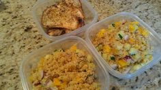 White balsamic quinoa salad pic    Many of our Friends love 'salads as entrees' as much as I do. They are especially healthy for Diabetic diets. This one is a Greek spice rubbed chicken breast with white balsamic quinoa salad that has yellow bell pepper, red onion, cucumber, fresh basil, garlic and olive oil in it. Get healthy meals prepared in your home weekly for a reasonable cost. www.friendthatcooks.com