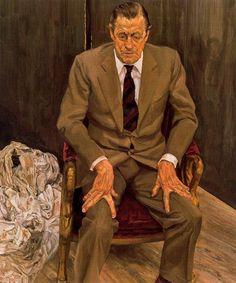 Man in a Chair - Lucian Freud, 1983-1985