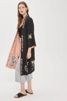Reversible Embroidered Kimono - Tops - Clothing - Topshop Europe