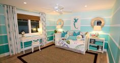 Stunning Decoration of Home using Ombre Technique: Striped Ombre Kids Room Wall Colorful Home Design Interior ~ oorban.com Colourful Home Designs Inspiration