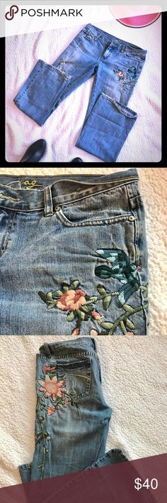 Custom Embroidered Jeans So Shabby Chic, Comfy Cozy Cuteness🐝💕 Jeans Boot Cut