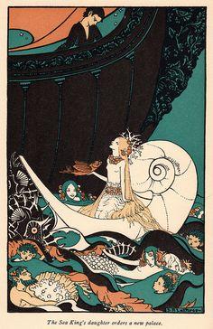 Art Nouveau Mermaids Fabric Block illustration for Quilt. Art And Illustration, Illustrations, Mermaid Illustration, Art Nouveau, Mermaids And Mermen, Real Mermaids, Mermaid Art, Mermaid Quilt, Mermaid Fabric