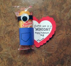 "Classroom Valentines or Classroom Welcome You're One in a ""MINION"""