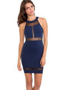 boutique flirt - Donna Mizani Halter Panel Dress Indigo, $198.00 (http://www.boutiqueflirt.com/donna-mizani-halter-panel-dress-indigo/)