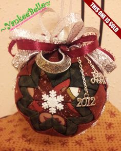 2012 Quilted Christmas Ornament