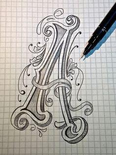 Sketch - Letter A for Alphabet