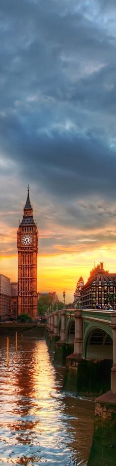 Sunset London, England
