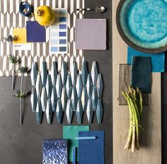 Heath by the Winchester Tile Company is Tile of the Year 2018! Pair it with inky, peacock blues, sunny yellows and greenery for a deeply relaxing feel.