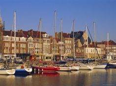 Boats and Harbour, Ostend, Belgium Photographic Print by Jenny Pate at AllPosters.com