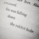 She was falling down the rabbit hole.