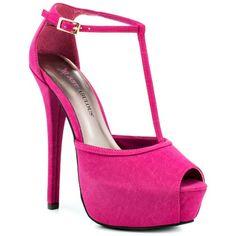 Pink wedding shoes Magenta JustFab Sanaya With A 6 Inch Heel $59.99