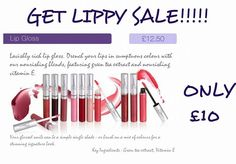LIPPIE SALE!!!!!!!!!!! Our lipgloss and lipsticks are currently on sale!!!