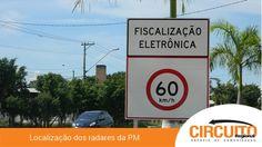 CONFIRA LOCAIS DOS RADARES EM FRANCA, NESTA QUARTA-FEIRA 26