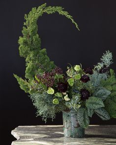 7 Unusual Winter Flower Arrangements—And Vases—That Are Perfect for the Holidays- 7 Unusual Winter Flower Arrangements—And Vases—That Are Perfect for the Holidays Winter Flower Arrangements, Creative Flower Arrangements, Vase Arrangements, Deco Floral, Arte Floral, Unusual Flowers, Beautiful Flowers, Ikebana, Winter Planter